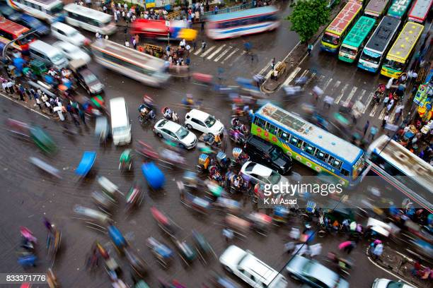 Traffic jam in the Bangladesh capital DhakaIn the last 10 years the average traffic speed in Dhaka has dropped from 21 km/hour to 7 km/hour only...