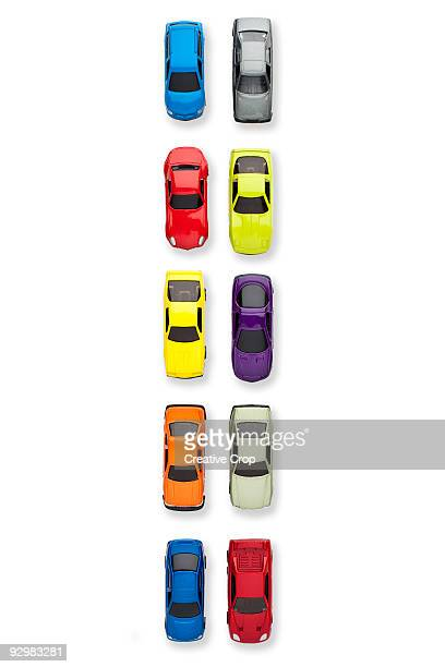 traffic jam of toy cars - toy car stock pictures, royalty-free photos & images