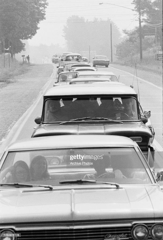 Woodstock Traffic Jam : News Photo