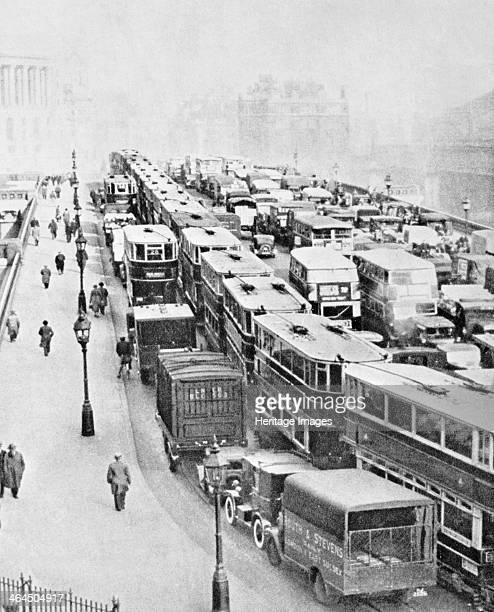 Traffic Jam on Blackfriars Bridge London c1935 Reid an amateur photographer of independent means began an ambitious project to record in photographs...