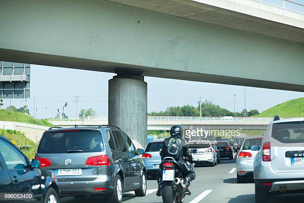 Traffic jam on highway A40
