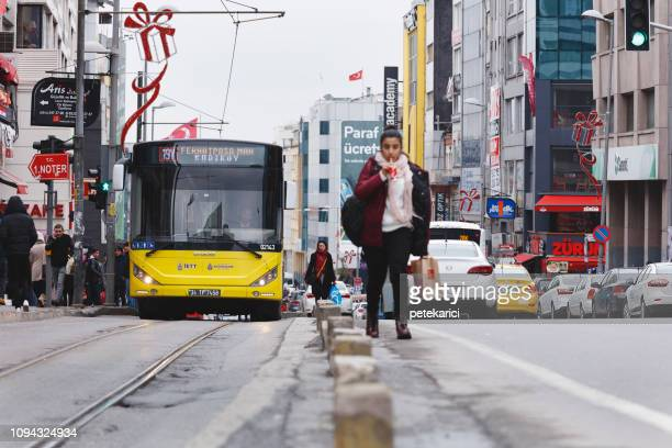 traffic jam on rush hour kadikoy, istanbul - kadikoy stock photos and pictures