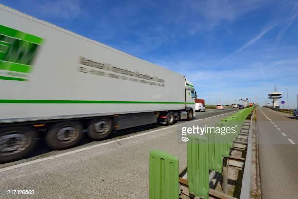 """traffic jam on the highway a6 on the ketelbrug in the netherlands - """"sjoerd van der wal"""" or """"sjo"""" imagens e fotografias de stock"""