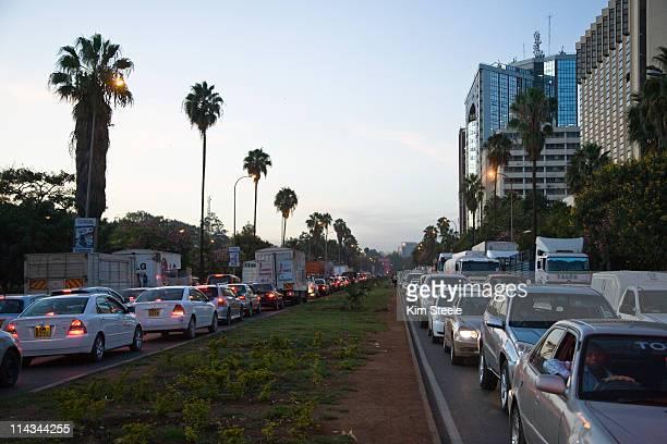Traffic jam on University Way.