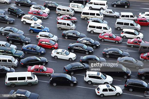 traffic jam - chaos stock pictures, royalty-free photos & images