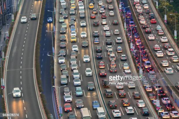 traffic jam, shanghai, china - peter adams stock pictures, royalty-free photos & images