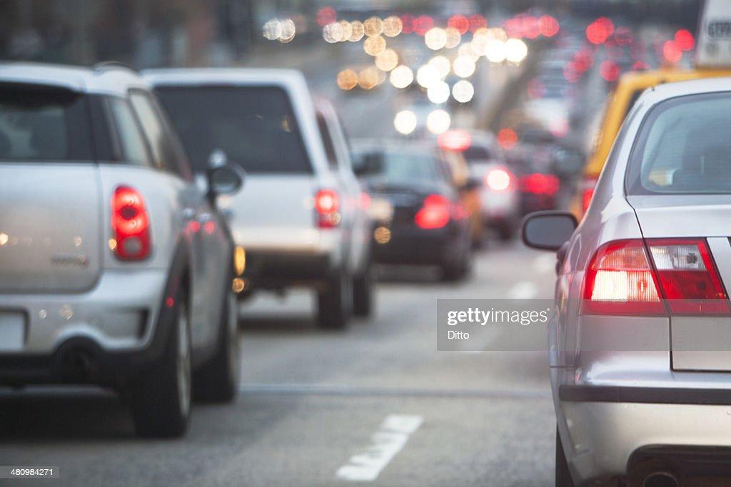 Traffic jam through New York City : Stock-Foto