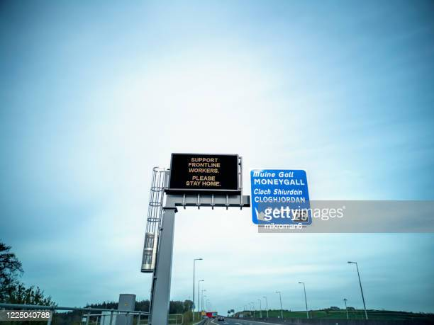 traffic led display on the highway - illness prevention stock pictures, royalty-free photos & images