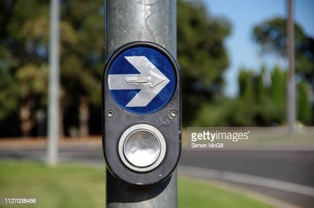Traffic light button at a pedestrian crossing