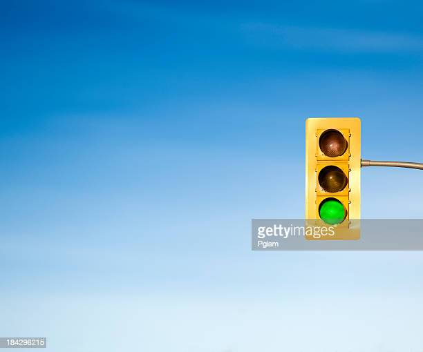 Traffic light green go signal concept