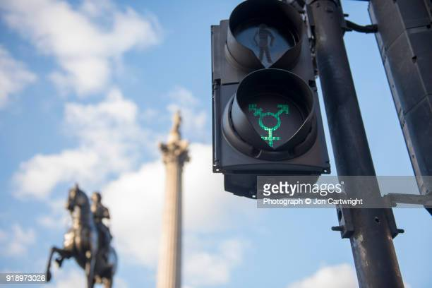 LGBT traffic light in central London