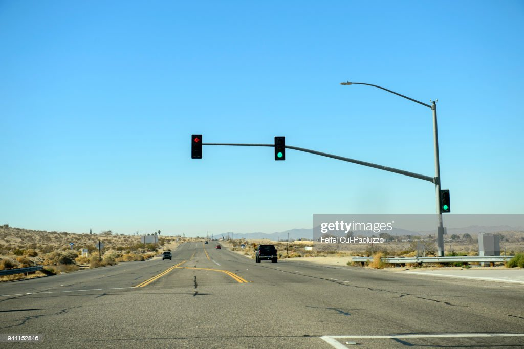 Road At Barstow California Usa