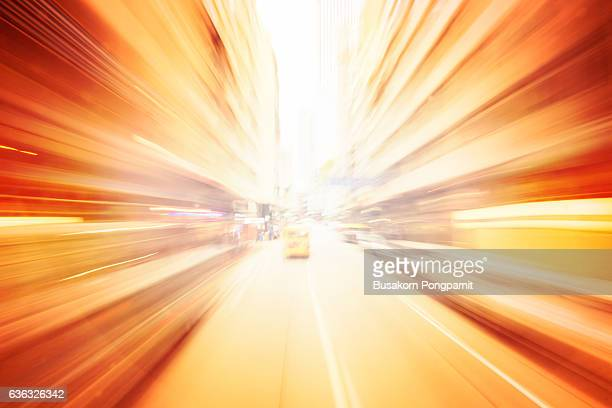 traffic light trails of modern background - zoom background stock pictures, royalty-free photos & images
