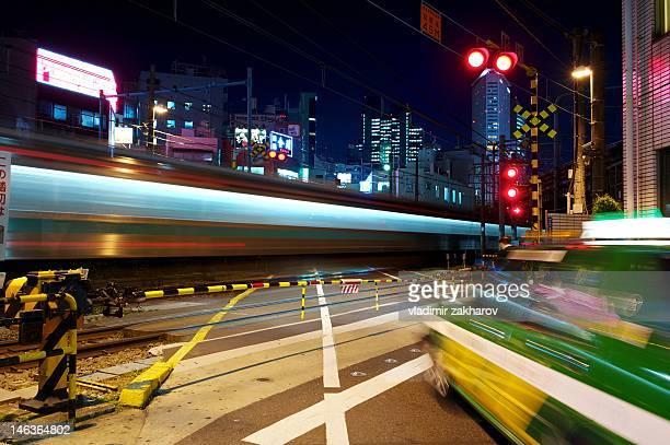 Traffic light trails of Tokyo