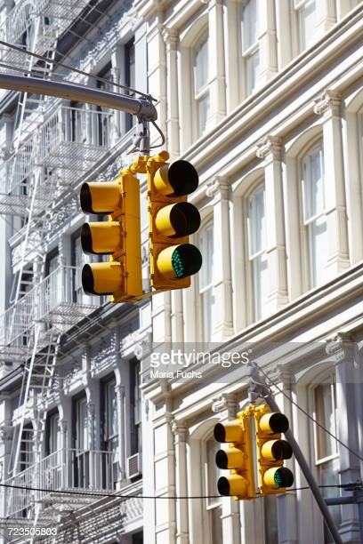 Traffic lights, Soho, New York City, USA