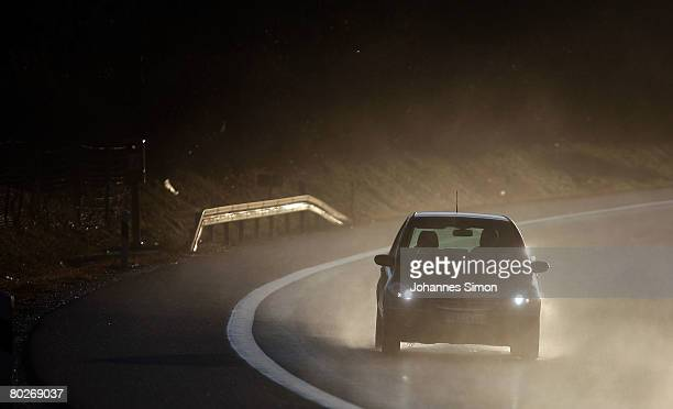 Traffic makes its way along motorway A96 from Lindau to Munich on March 16 in Inning am Ammersee Germany In Germany Easter time marks the beginning...