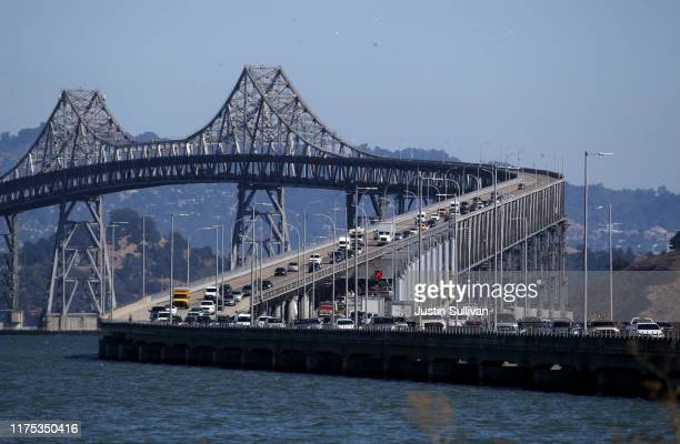 Traffic moves across the Richmond-San Rafael Bridge on September 17, 2019 in Mill Valley, California. The Environmental Protection Agency announced...