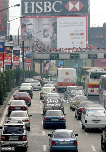 Traffic moves along a highway in Manila, the Philippines, on