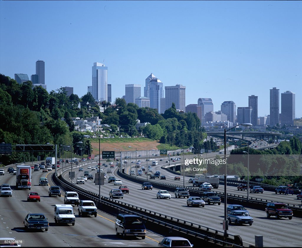 Interstate 5 Traffic in Seattle : News Photo