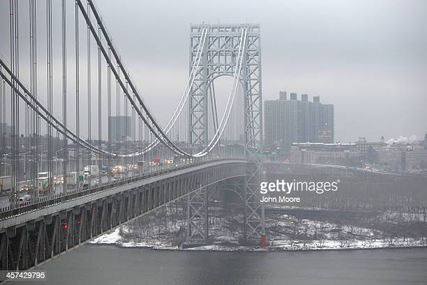 Traffic moves over the Hudson River and across the George Washington Bridge between New York City and Fort Lee New Jersey on December 17 2013 New...
