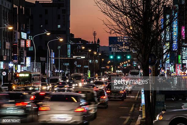 Traffic Night Urban City