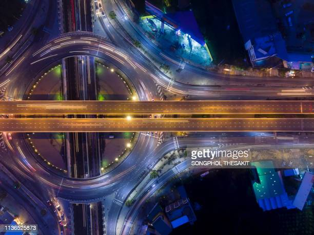 traffic on a circular road/aerial shot - plus key stock photos and pictures