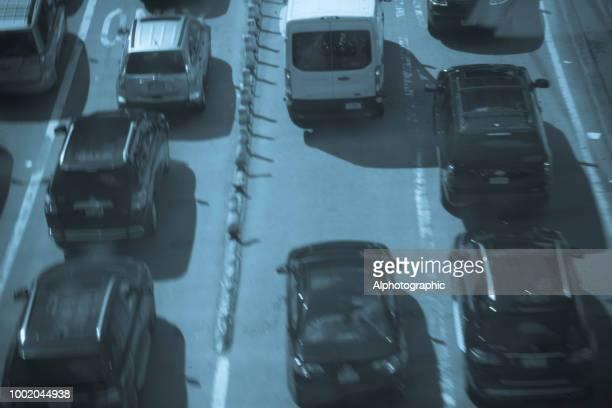 Verkeer op een viaduct in West Manhattan