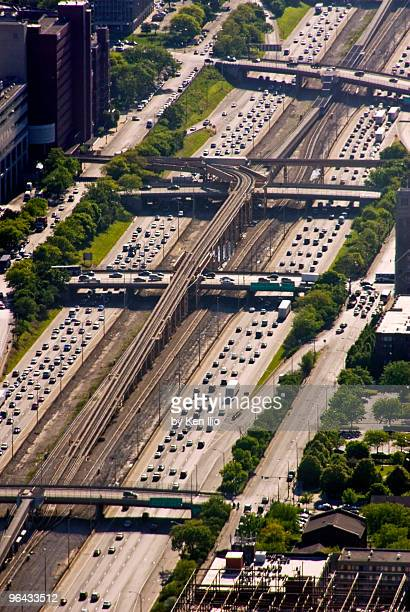 traffic on an expressway - ken ilio stock photos and pictures