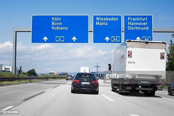 交通 autobahn a 3 - コブレンツ ストックフォトと画像