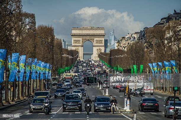 Traffic On Avenue Des Champs-Elysees