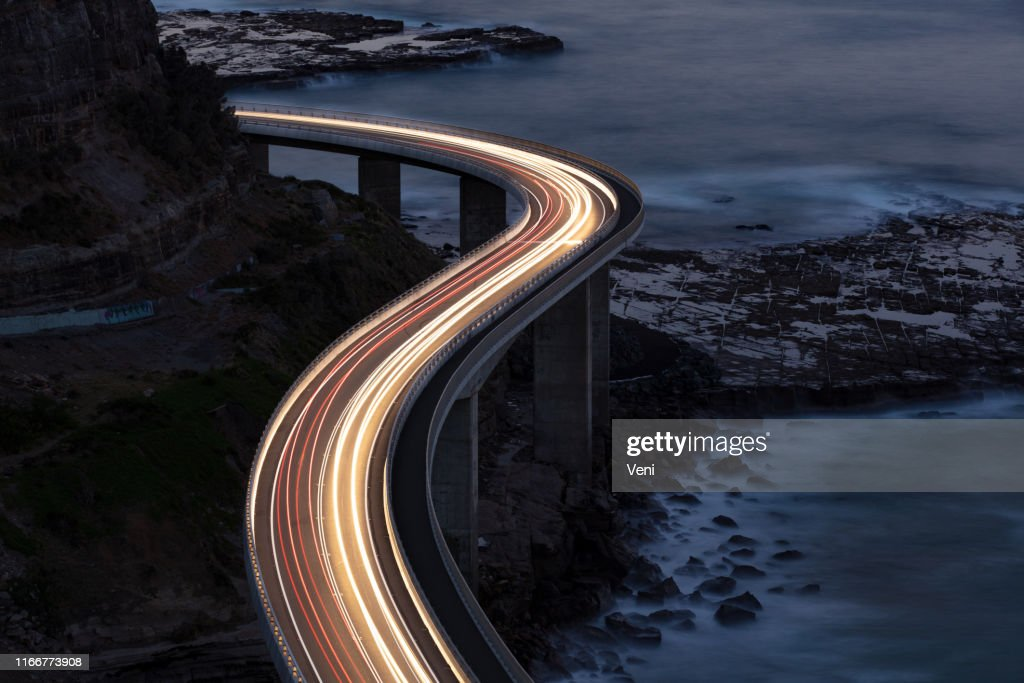 Traffic on Bridge : Stock Photo