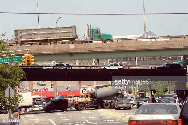 Traffic on Bruckner Boulevard and the Bruckner Expressway in the Bronx in New York on May 31 2007 A recent study found that the Bronx is the least...