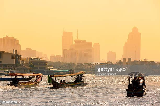 Traffic on Chao Phraya River, Bangkok