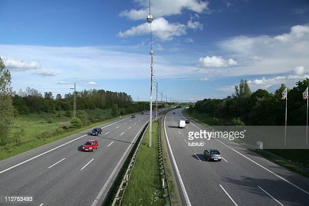 Traffic on highway in Denmark #1