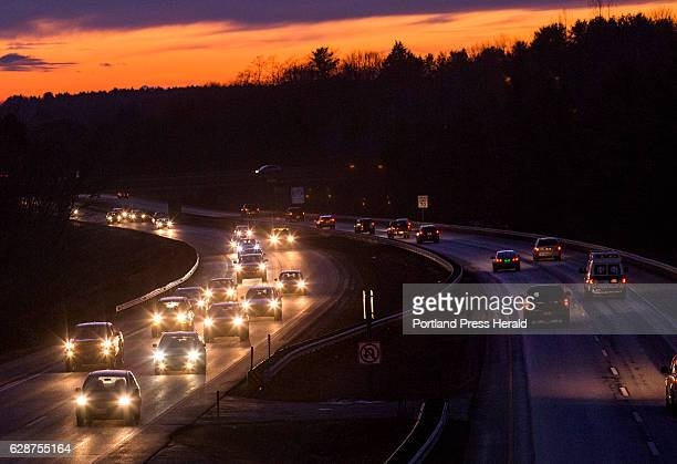 Traffic on I295 in Falmouth on Thursday Dec 8 2016 Seen looking southbound from the Bucknam Road overpass