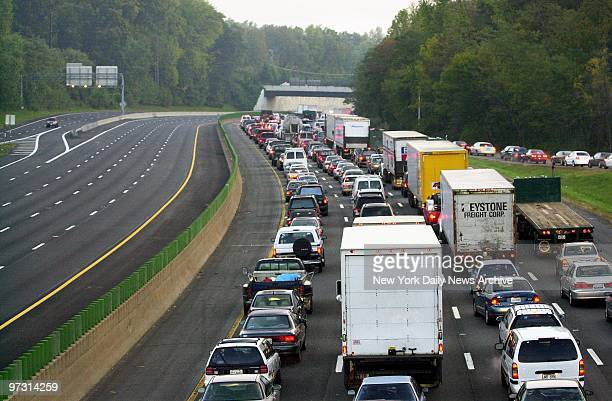 Traffic on Interstate 495 is at a standstill as the police put on a dragnet around Aspen Hill Md where a bus driver was fatally wounded in what...