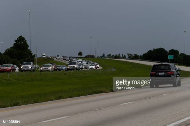 Traffic on Interstate 75 while moving in both directions was noticeably heavier in the northbound lanes as residents and visitors in Florida evacuate...
