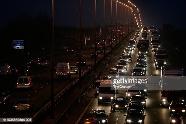 traffic on m1 motorway, england, uk - motorway stock pictures, royalty-free photos & images