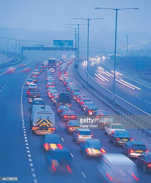Traffic on M25,UK