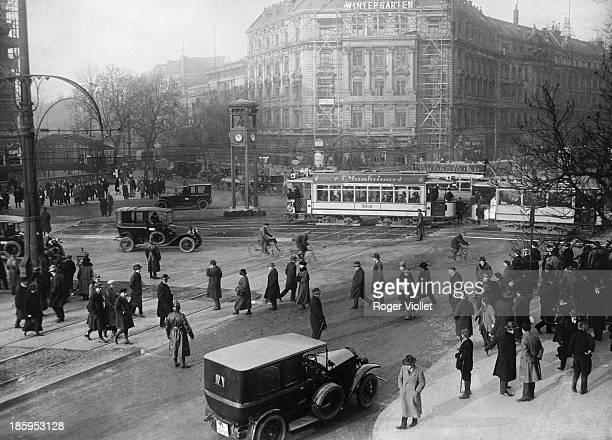 Traffic on Potsdamer Platz Berlin circa 1925