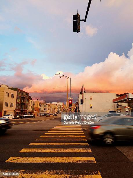 traffic on road in city - danielle reid stock pictures, royalty-free photos & images