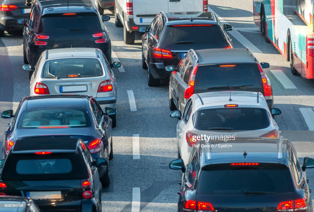 Traffic On Road In City : Stock Photo