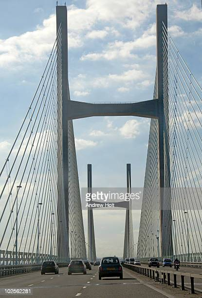 Traffic on second Severn Bridge England Wales