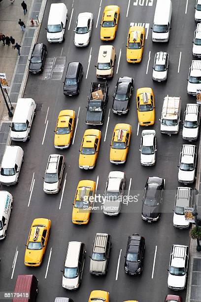 Traffic on streets in New York City