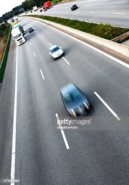 traffic on the freeway - vertical stock pictures, royalty-free photos & images