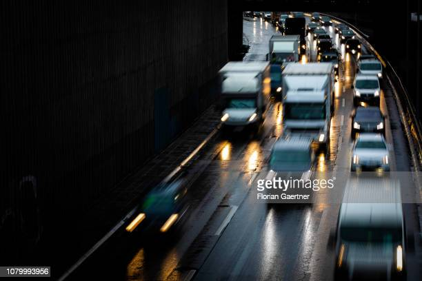 Traffic on the highway is pictured on January 09 2019 in Berlin Germany