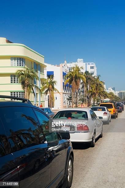Traffic on the road, Miami, Florida, USA