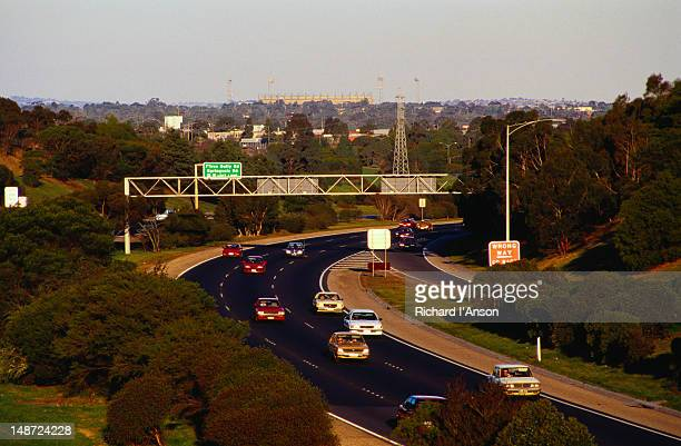 Traffic on the South eastern Freeway, Glen Waverley - Melbourne, Victoria