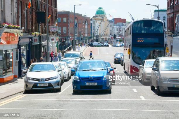 Traffic on the streets of Cork, Ireland