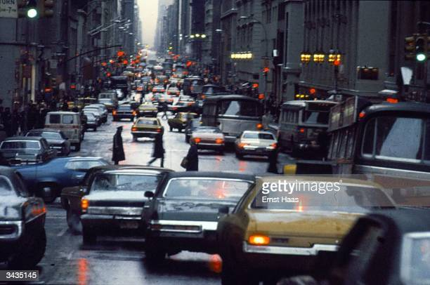 Traffic on the streets of New York City